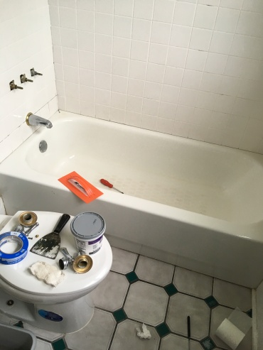 bathroom tile and tub fixes